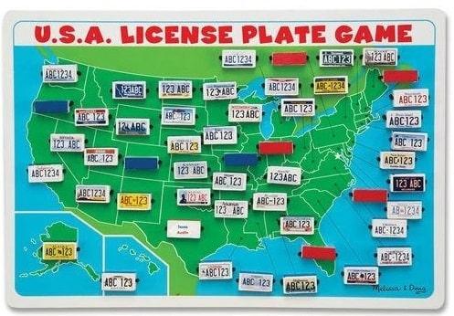 The Melissa and Doug USA License Plate Game.
