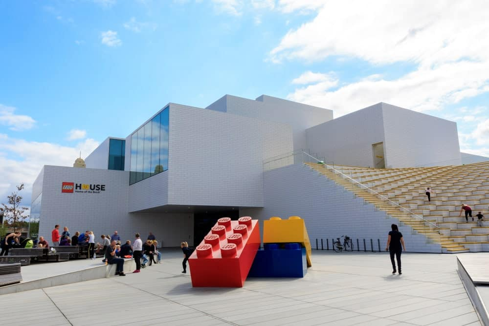 A look at the main entrance of LEGO House in Denmark.