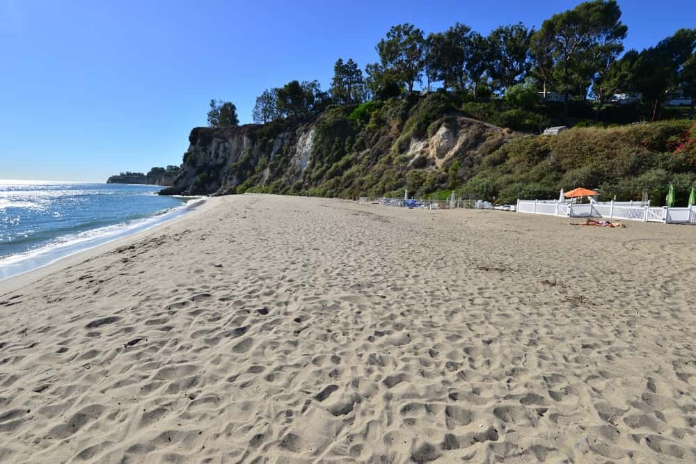 This is a look at the pristine Paradise Cove Beach.