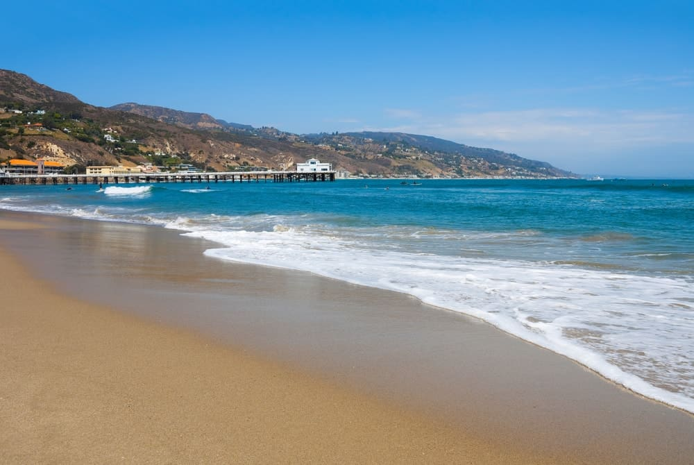 This is a view of the Malibu Lagoon Beach.