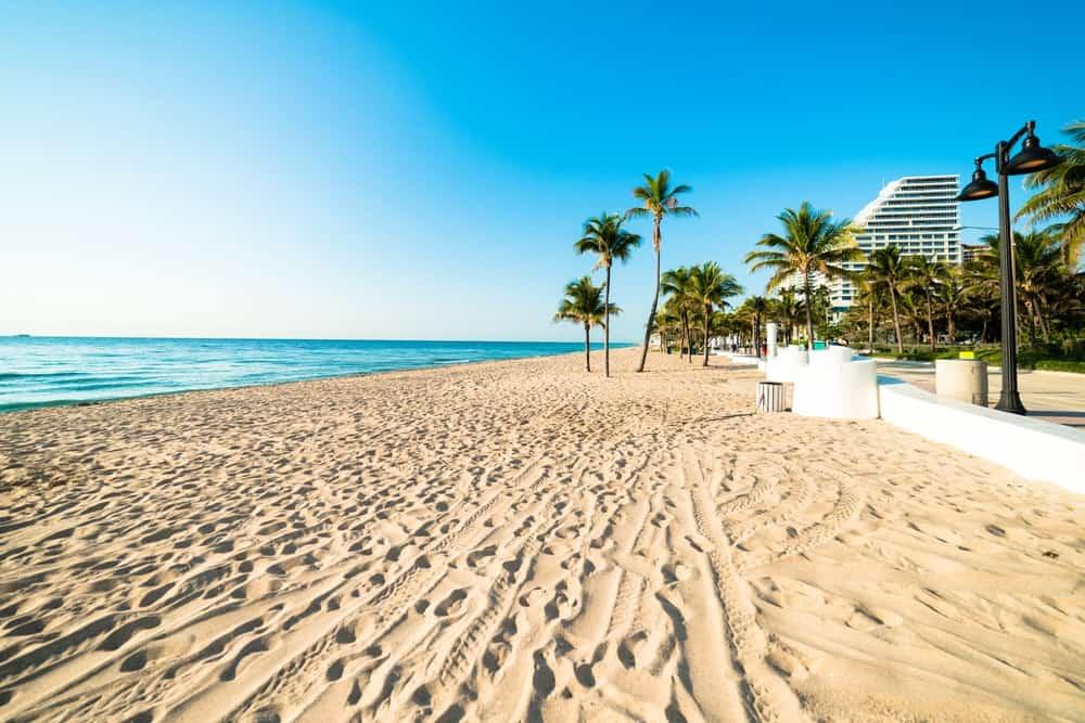 Fine sand on Fort Lauderdale Florida Beach.