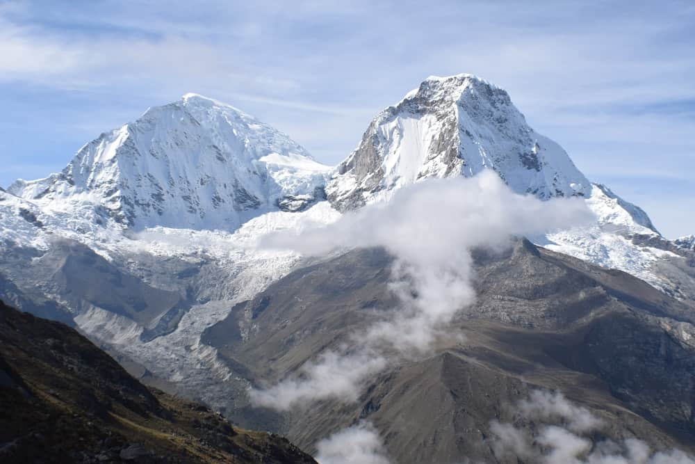 Huascaran Mountain located in Huaraz, Peru.