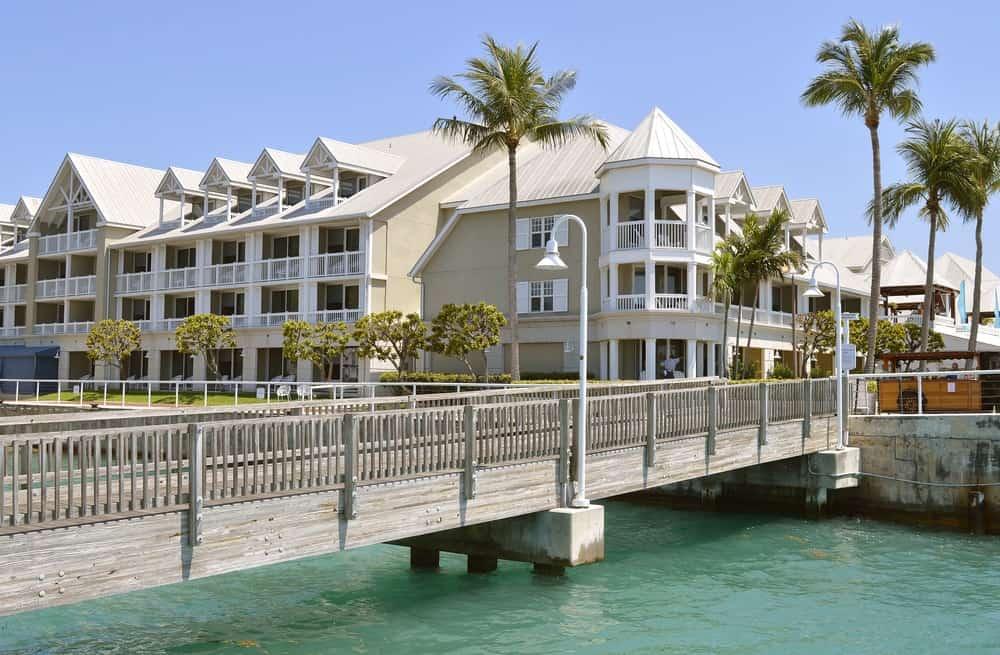 Sunset Key cottages in Key West Marina.