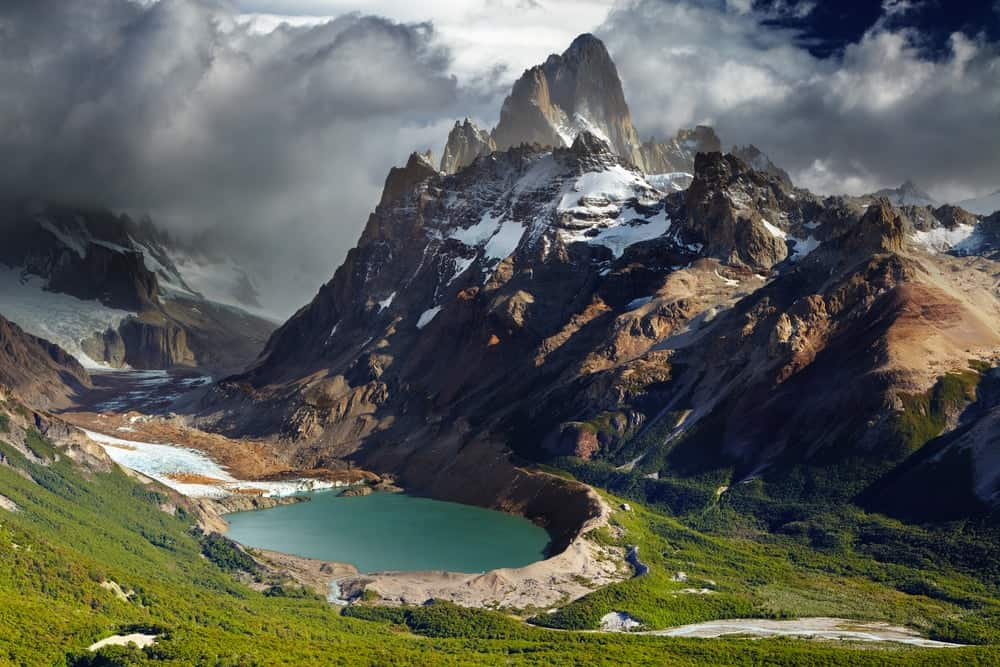Mount Fitz Roy and laguna Torre in Los Glaciares National Park, Patagonia, Argentina