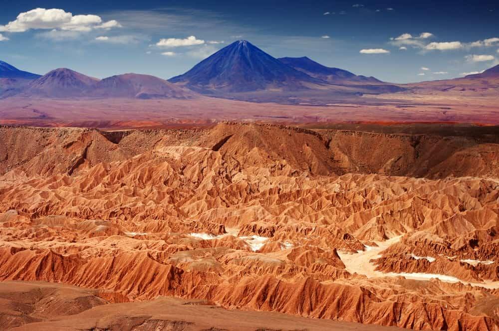 An aerial view of the Atacama Desert.