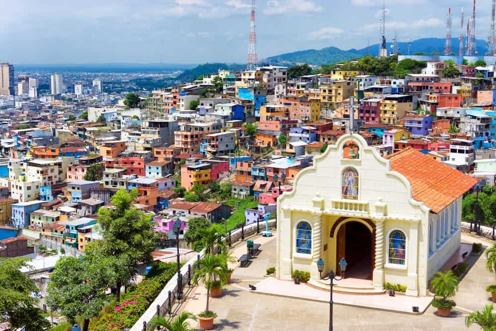A church on a hill in Guayaquil, Equador.