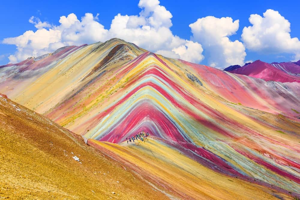 This is Rainbow Mountain in Cuzco.