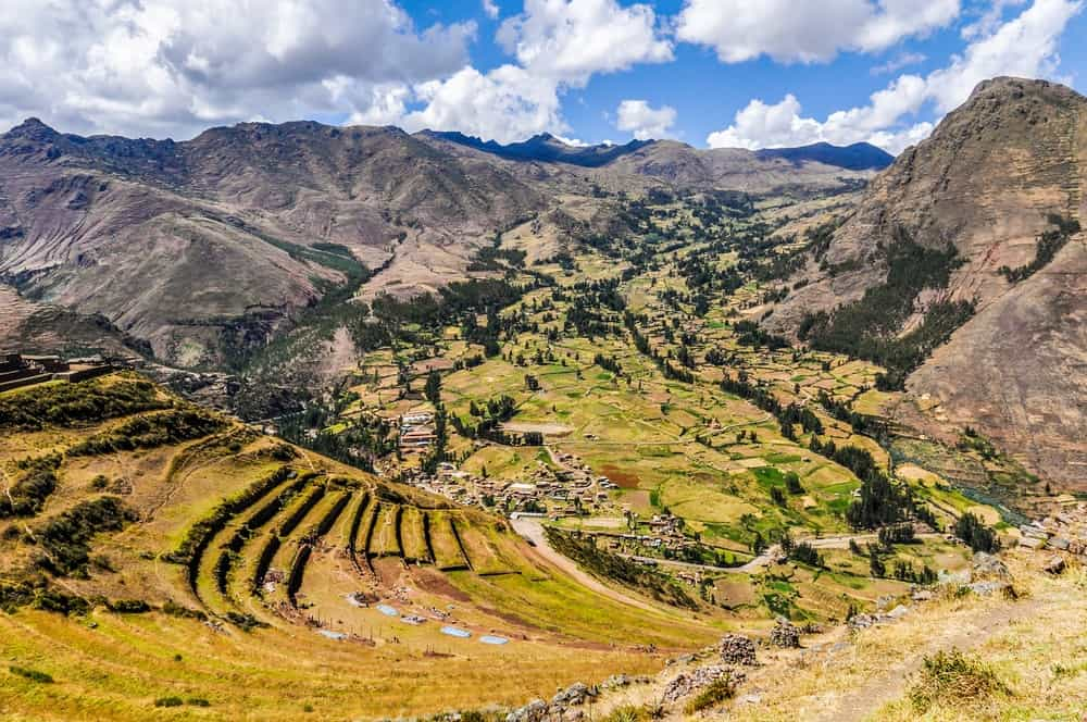 This is the terraces of Pisac in the Sacred Valley.
