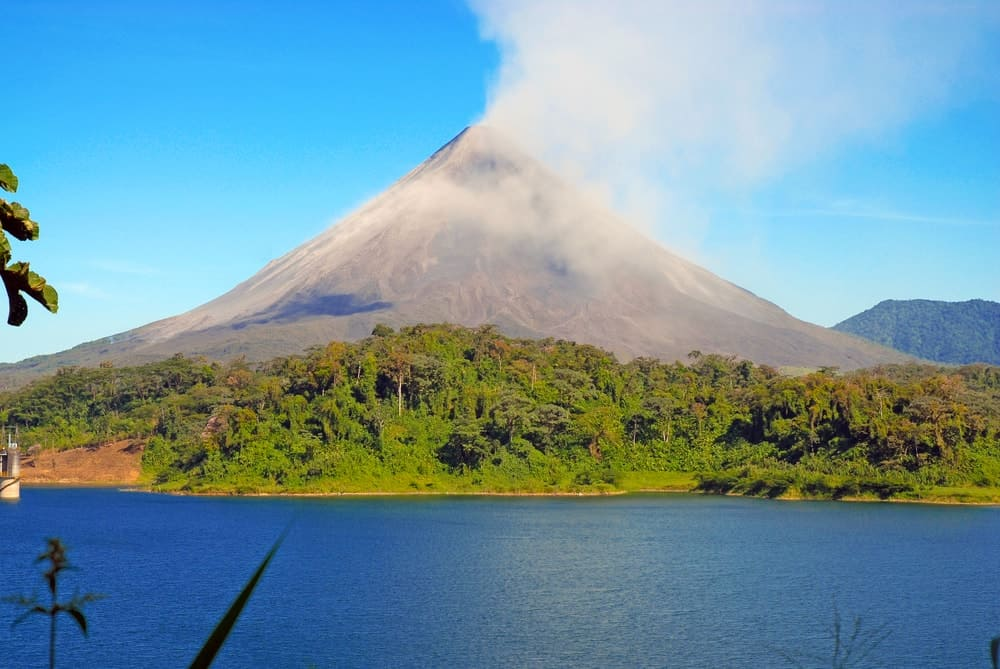 A scenic view of the Arenal Volcano in Costa Rica.