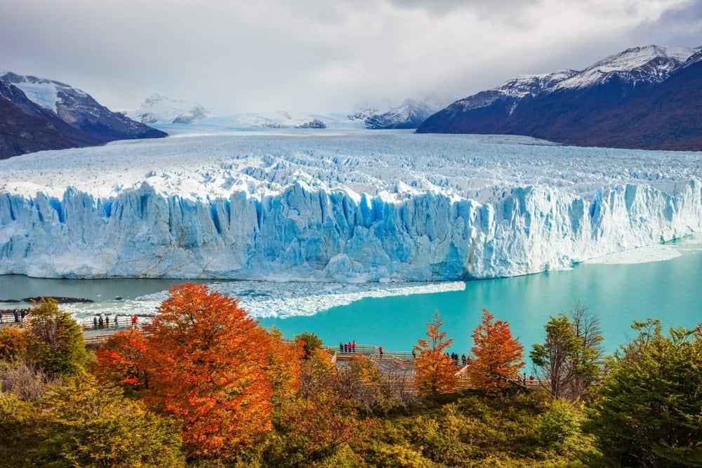 A look at the Perito Moreno Glacier located in the Los Glaciares National Park in Santa Cruz Province, Argentina.