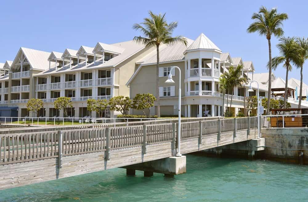 This is the Sunset Key Cottages in Key West, Florida.