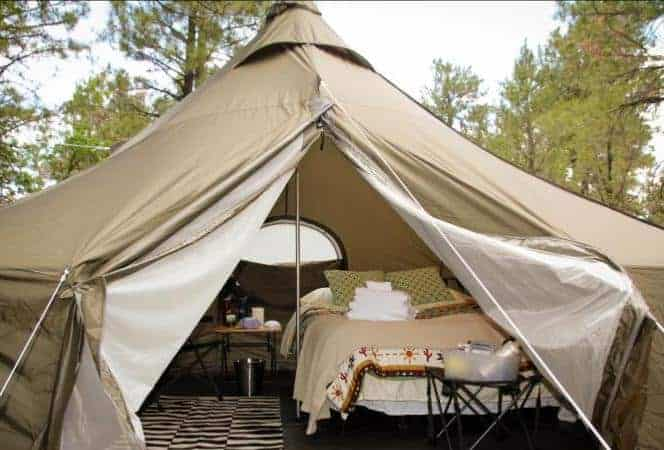A look inside one of the tents of Arizona Luxury Expeditions tents.