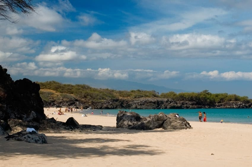 A scenery of Hapuna Beach State Park at Big Island.