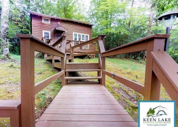 Keen Lake's Hermit Island cabin.