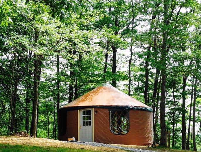 A look at one of the yurts of Lake Raystown Resort.