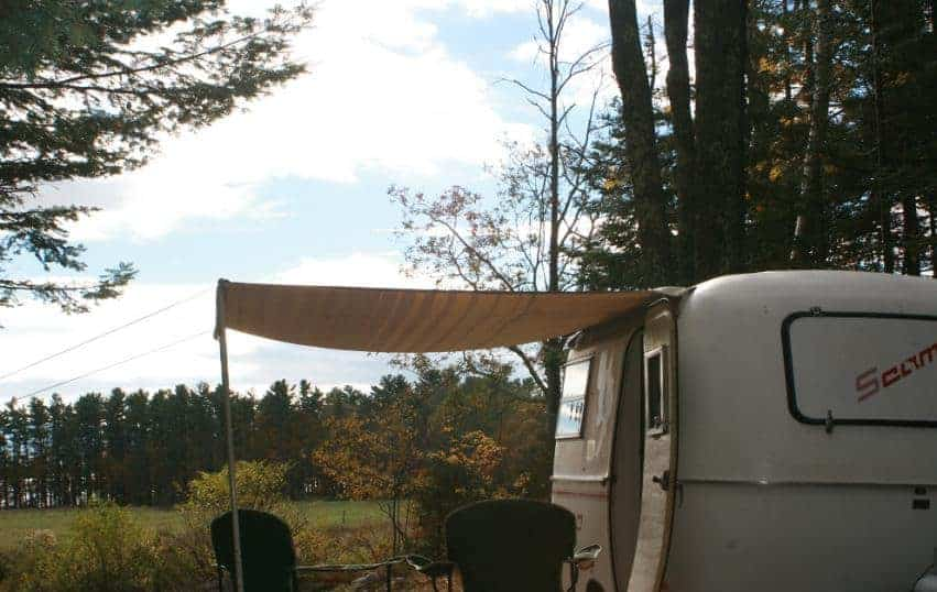 A look at one of the trailers in Mainely Glamping.