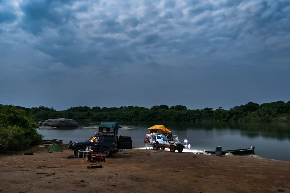 A look at overlanding camping by the lake.
