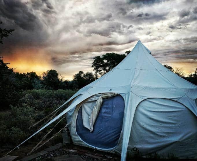 A close look at a yurt in Rancho Gallina.