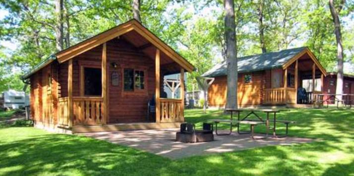 Cabins at Silver Springs Campsites in Rio, Wisconsin.