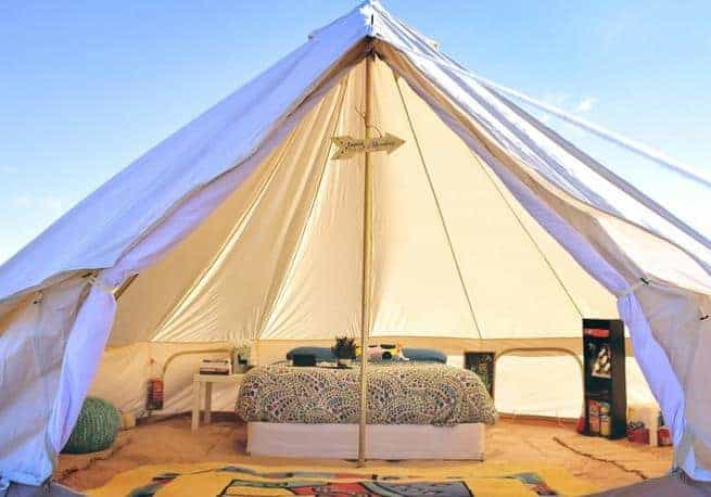 A look inside one of the tents of The Grand Nomad luxury tent.
