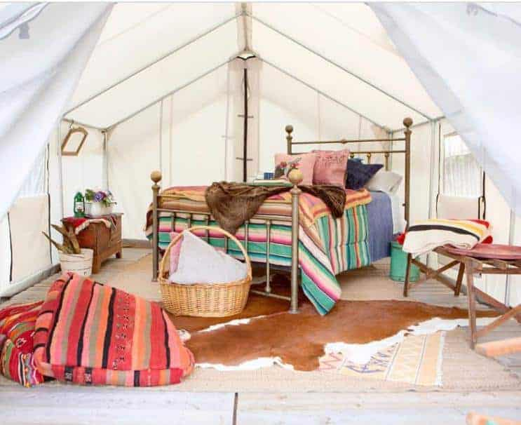 A look inside one of the tents of Whispering Pine Farms.
