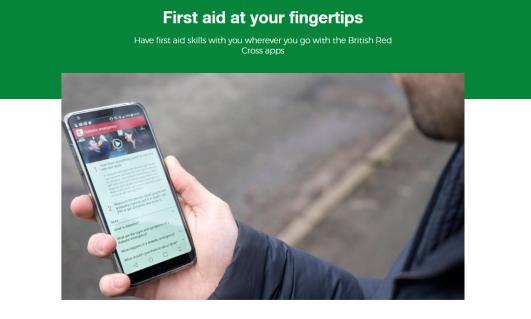 A screenshot of the First Aid by Red Cross app.
