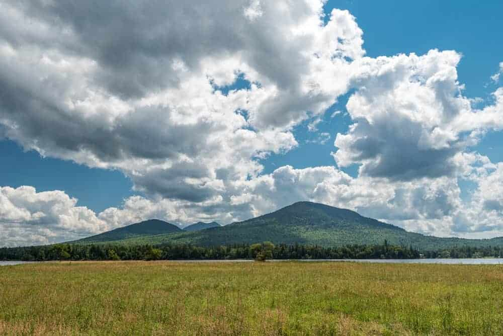 A look at the Bigelow Mountain from afar.