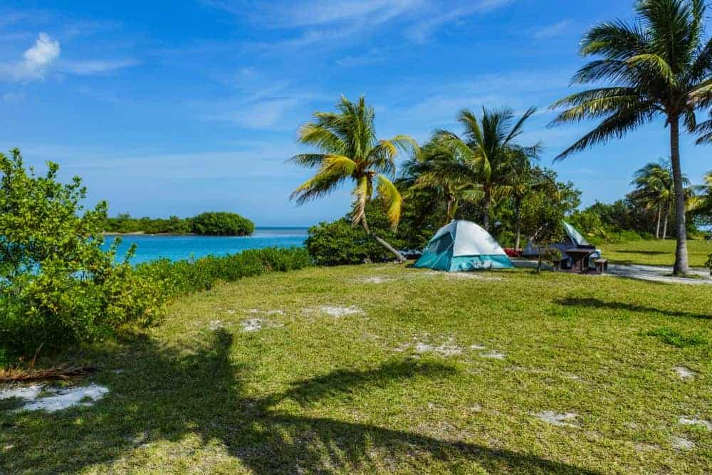 Boca Chita Key Campground in Biscayne National Park in Florida.