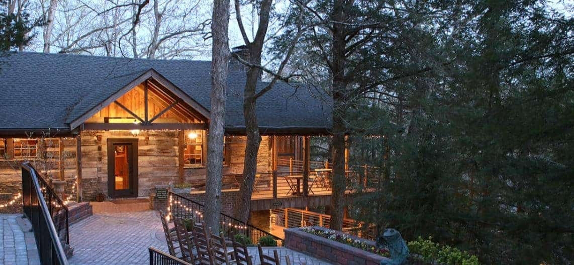 A cabin at Evins Mill in Smithville, Tennessee.