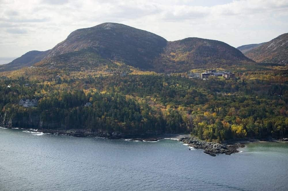 This is an aerial view of Cadillac Mountain.