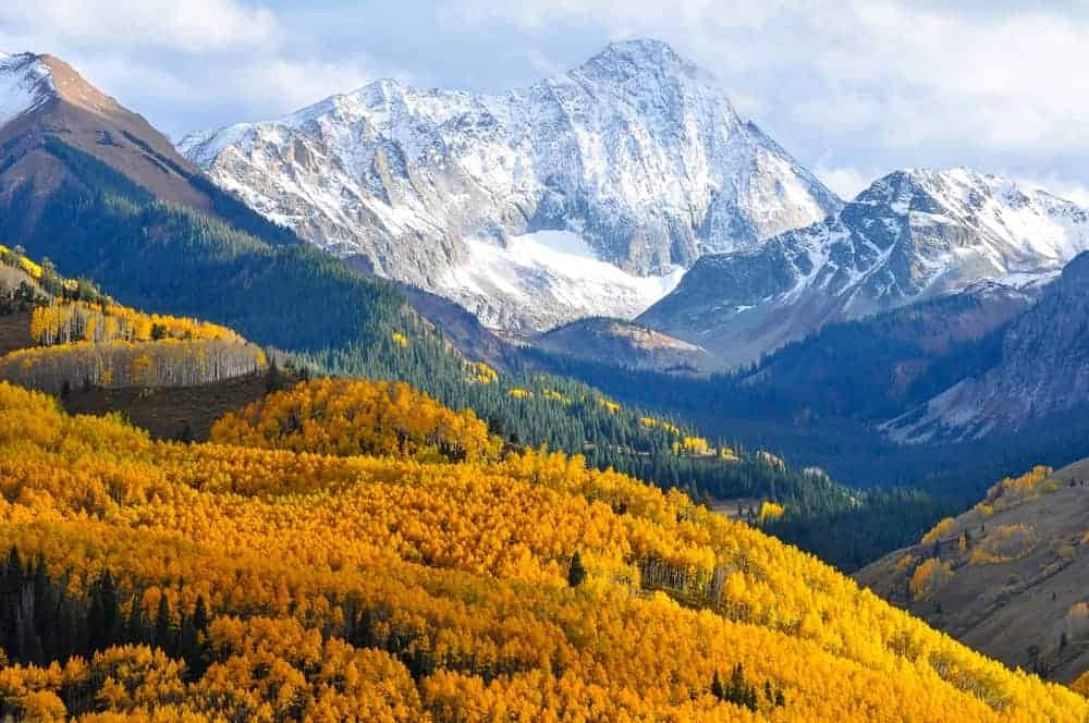 This is an aerial view of the massive Capitol Peak from afar.