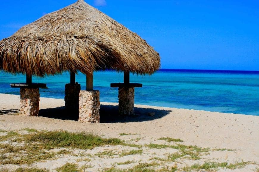 A cottage at Baby Beach in Aruba.