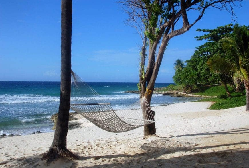 This secluded beach is part of a national wildlife refuge and has crystal clear blue waters and 3 miles of sandy beach, making it one of the longest beaches in the entire Caribbean. This beach is usually very quiet, and exclusive.