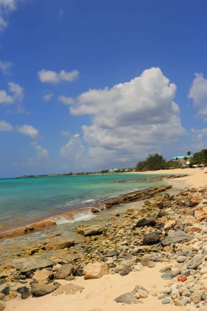This section of rocky beach belongs to one of the longest uninterrupted beaches in all of the Caribbean, at nearly 5 miles. The crescent shaped coral-sand beach is well-known for its beauty, and regardless of where you're staying, you can walk the entire length of the beach.