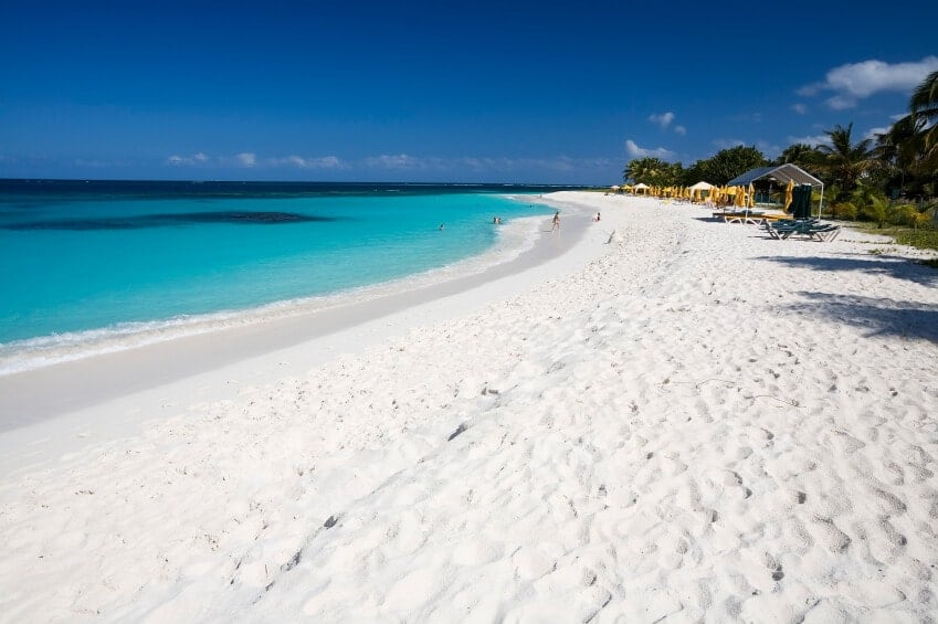 Like most of the beautiful beaches of the Caribbean, Shoal Bay has soft white sand that glitters in the sunlight. Shoal Bay extends for about 2 miles, and is rarely crowded, so you can relax in quiet. Off shore, pockets of deeper water can be seen.