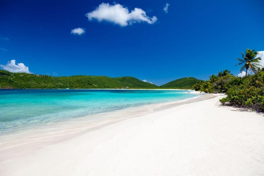 A view of Flamenco Beach on Culebra Island, Puerto Rico.