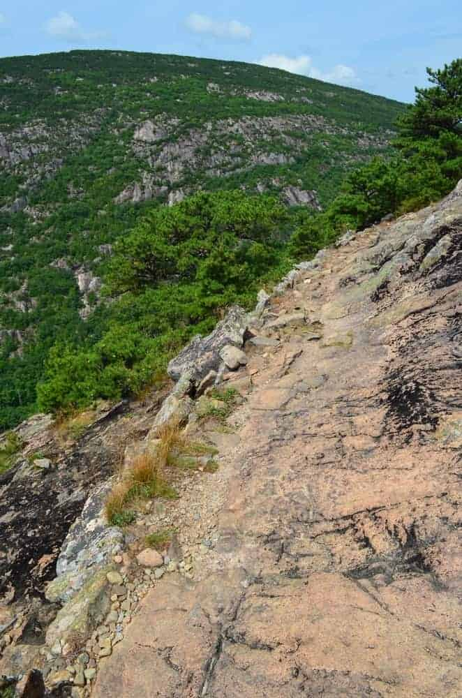 This is an aerial view of the cliff of Dorr Mountain.