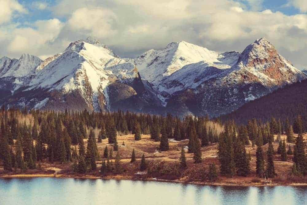 This is a mountain landscape in Colorado Rocky Mountains.