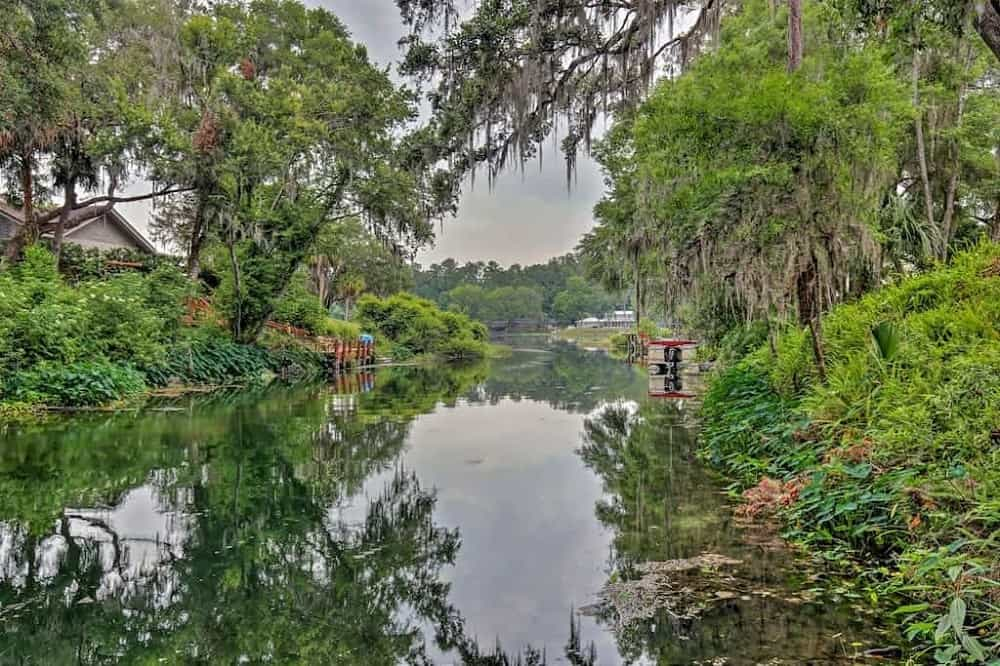 A riverfront vacation home in Dunnellon, Florida.