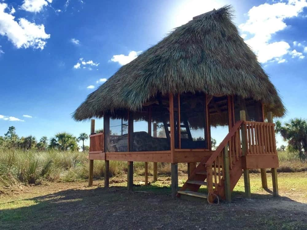 A chickee Hut at the Everglades Adventure Tours.
