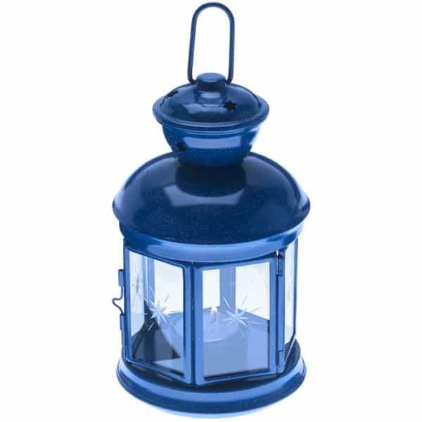 GSI Outdoors Fiesta Candle Lantern in blue.