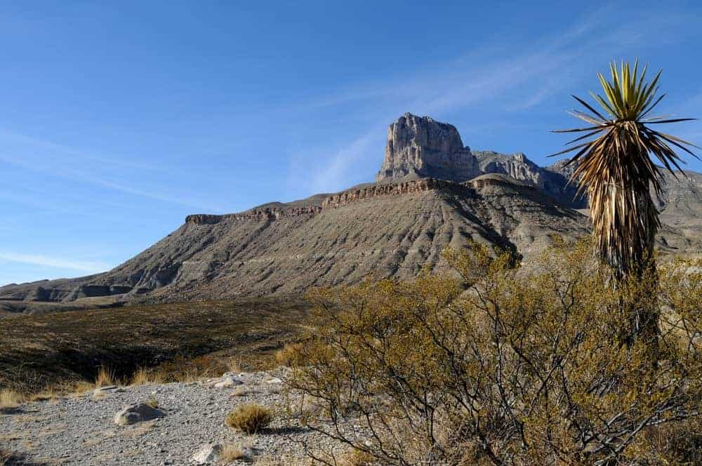 A look at the vast Guadalupe Mountains from afar.