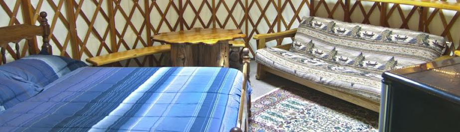 A look at the interior of one of the cabins of Wildman Adventure Resort in Athelstane, Wisconsin.