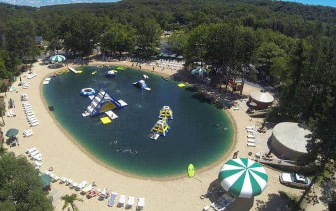 This is an aerial view of Smokey Hollow Campground in Lodi, Wisconsin.
