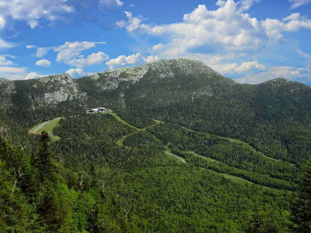 This is an aerial view of Mount Mansfield.