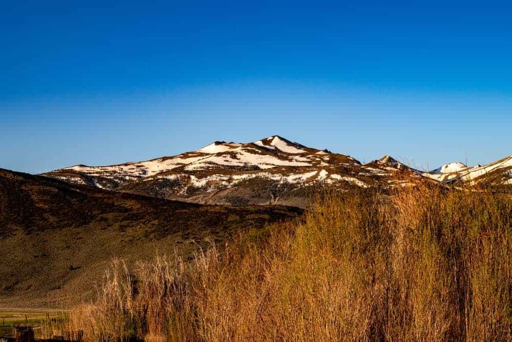 A look at the snow-covered peaks of Matterhorn Peak.