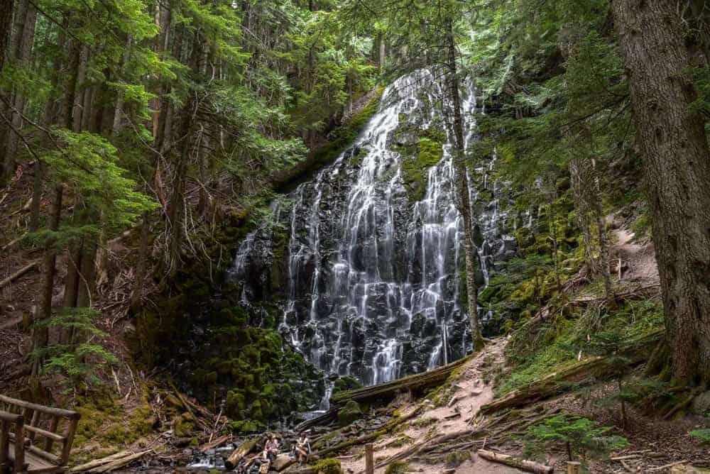 Ramona Falls on the western side of Mount Hood, Oregon.