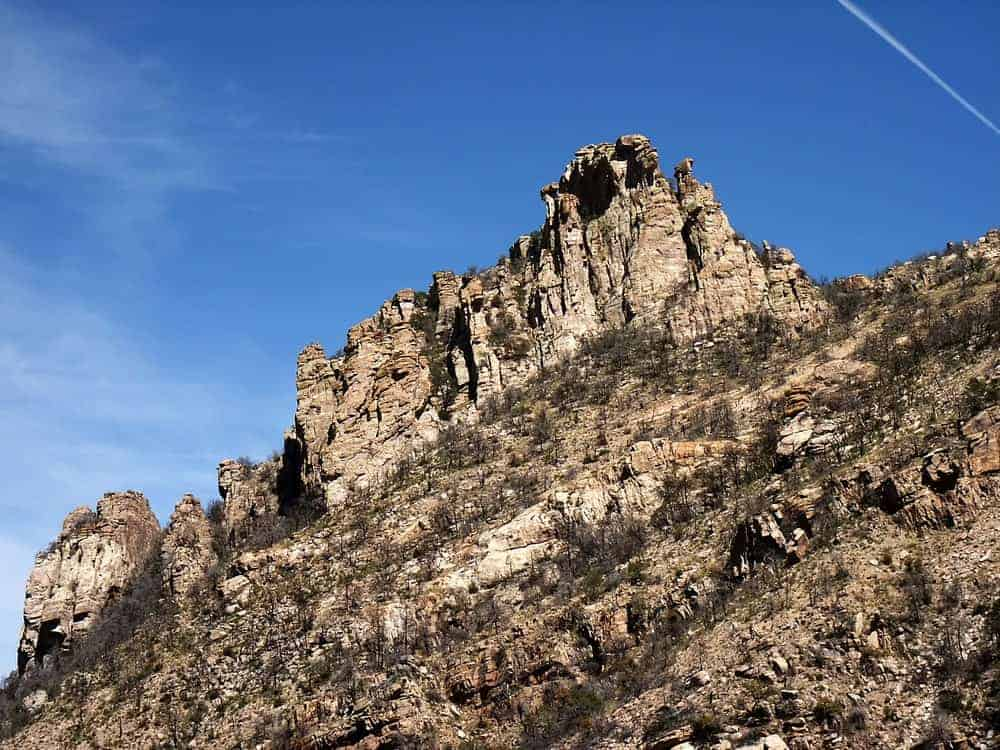 A look at the peak of Mt. Lemmon from the foot.