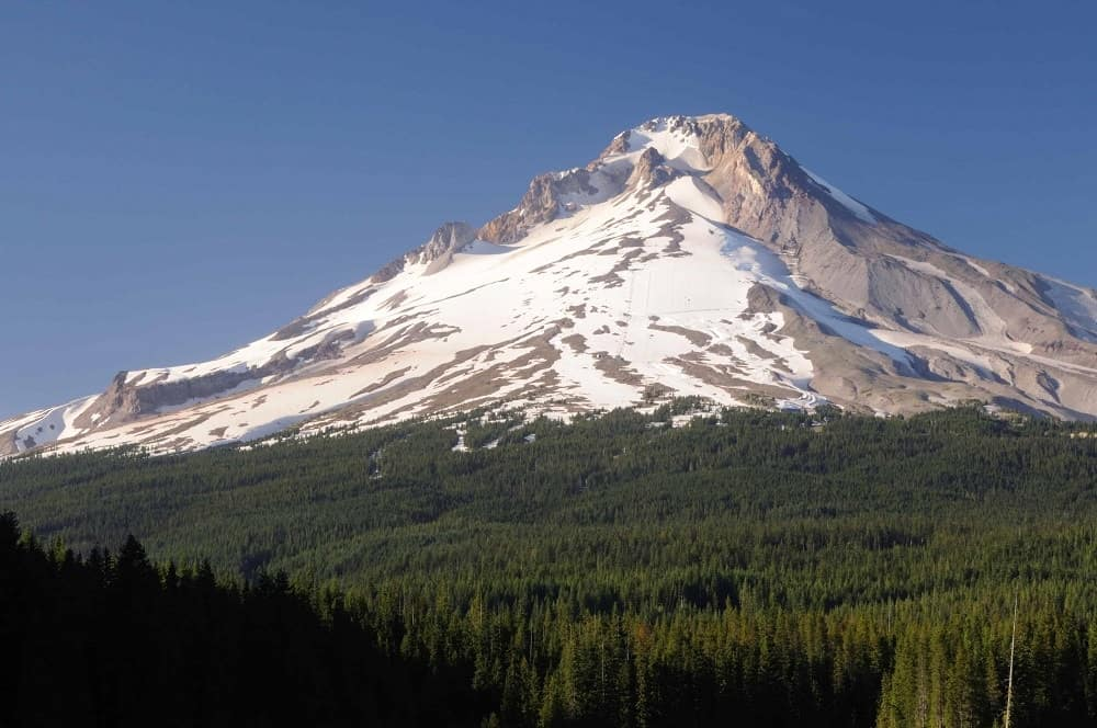 A view of the south side of Mt. Hood.