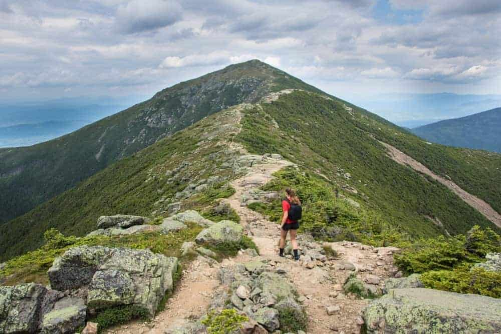 A hiker on the trails of Mt. Lafayette (and the Franconia Ridge).